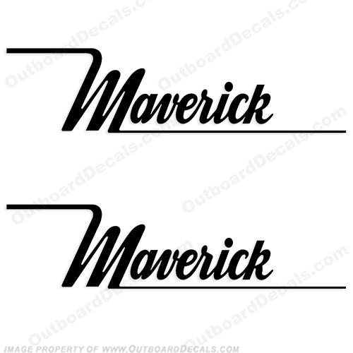 Maverick Boat Logo Decals (Set of Two) - Any Color!