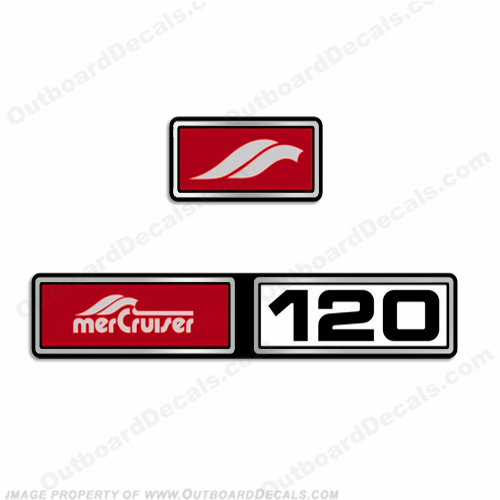 Mercruiser 1982-1989 120hp 2.5L Valve Cover Decals