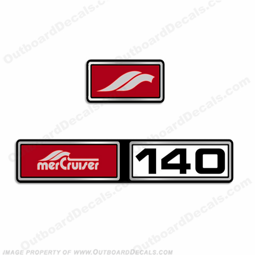 Mercruiser 1982-1989 140hp 3.0L Valve Cover Decals