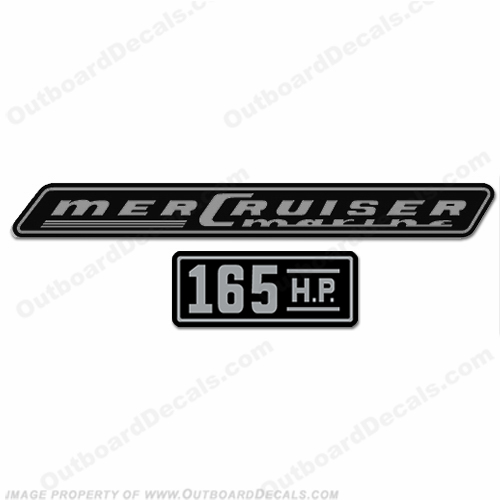 Mercruiser 165hp Decals - 1970