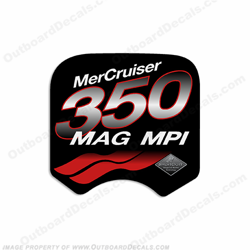 Mercruiser 350 Mag MPi Decal (Red)