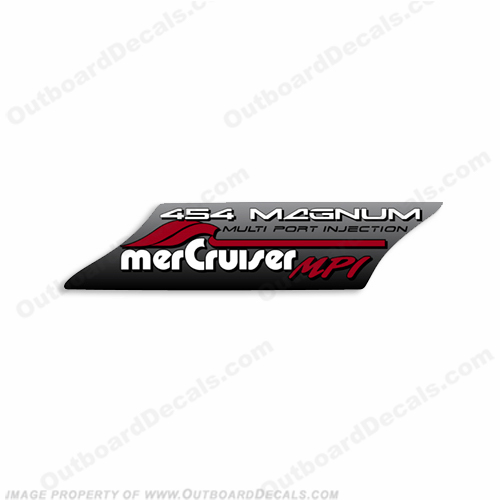 Mercruiser 454 MPI Decal mer, cruiser, mercury, mpi, mag, multiport, multi, port, injection, mercruiser, magnum