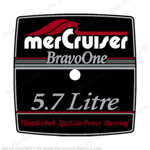 Mercruiser 5.7 Litre Bravo One Flame Arrestor Decal