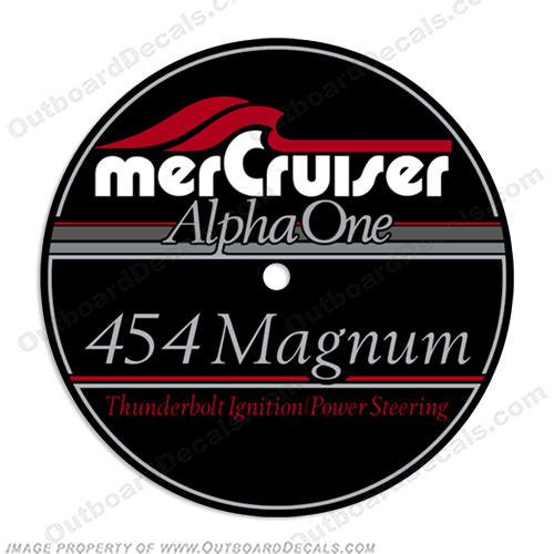 Mercruiser 454 Magnum Flame Arrestor Decal  mercruiser, mer, cruiser, 43, 4, 3, mpi, engine, valve, 454, flame, arrestor, mercury, decal, sticker