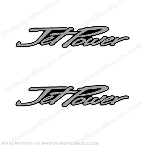 "Mercury ""JetPower"" Decals (set of two) - 2013+ big, foot, big foot, big-foot, jet power, jet-power"