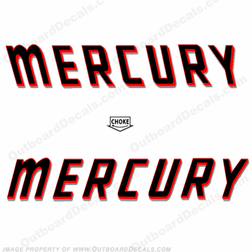 Mercury 1960 100hp - 200hp Decals
