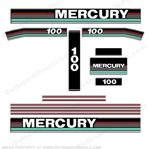 Mercury 1991 100HP Outboard Engine Decal 91, 100 hp