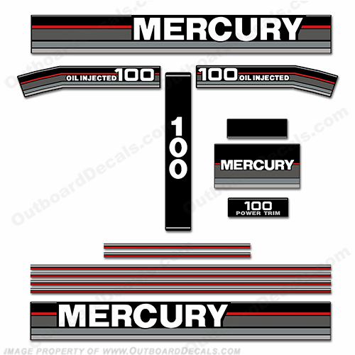 Mercury 1992 100HP Outboard Decals