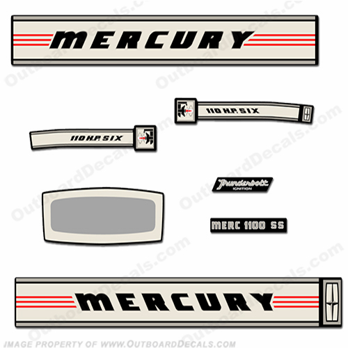 Mercury 1966 110HP SS Thunderbolt Decal Kit
