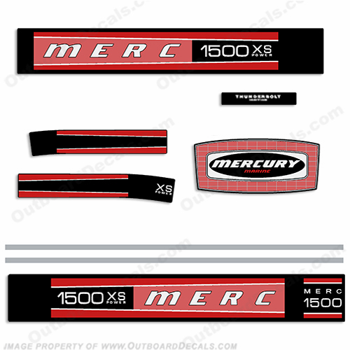 Mercury 1976 1500XS (115hp) Outboard Decal Kit