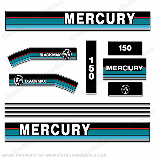 Mercury 1995 150HP Outboard Engine Decals
