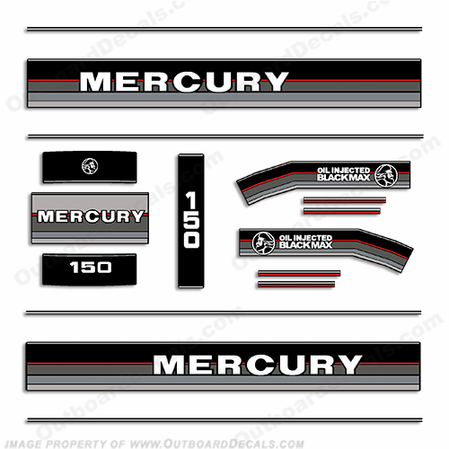 Mercury 1986 150HP Outboard Engine Decals