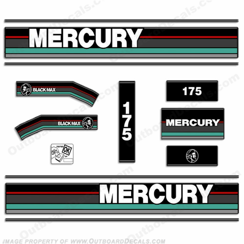 Mercury 1991 175hp Outboard Decals