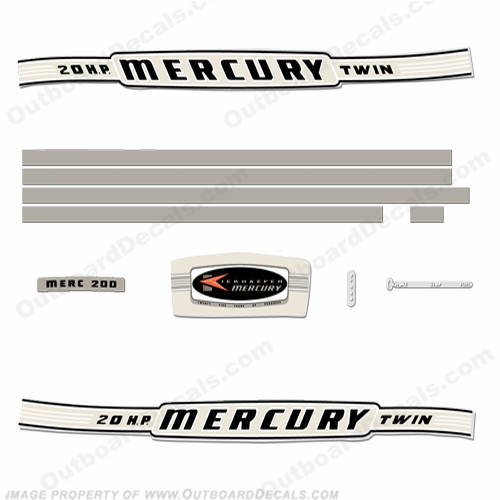 Mercury 1964 20HP Outboard Engine Decals