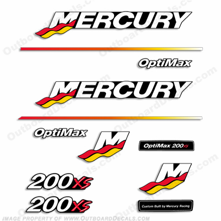 Mercury 200XS Racing Decal Kit - 2003 - 2004