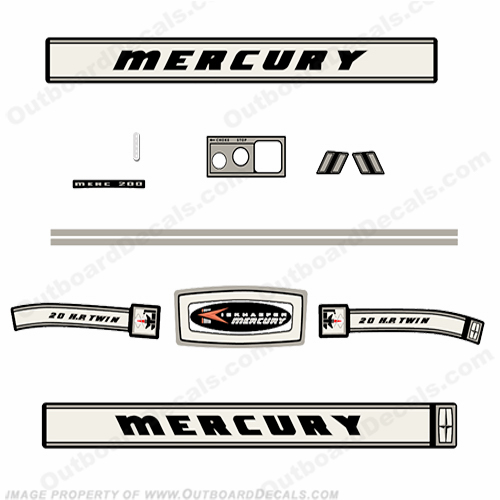 Mercury 1966 20HP Outboard Engine Decals