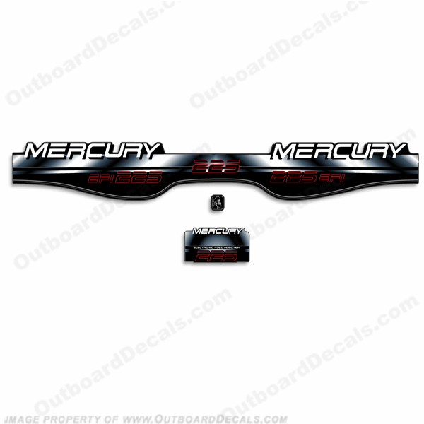 Mercury 225hp EFI BlackMax Decals - 97-98