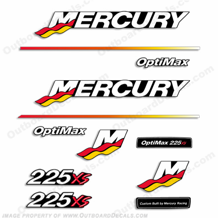 Mercury 225XS Racing Decal Kit - 2003 - 2004