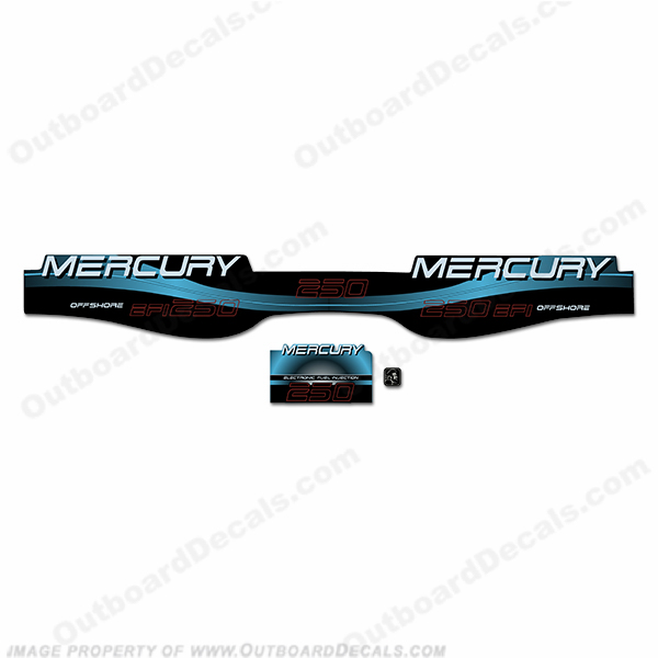 Mercury 250hp Offshore BlackMax Decals - Custom Style