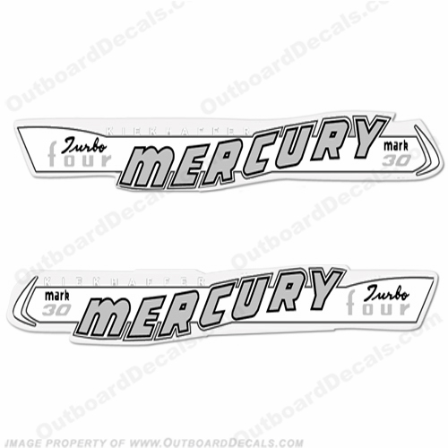 Mercury 1957 30HP Outboard Engine Decals