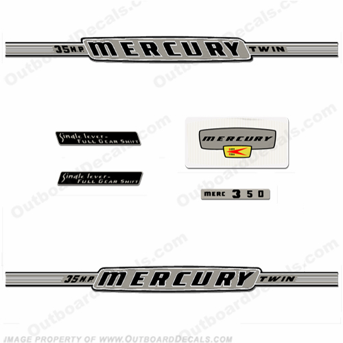 Mercury 1963 35HP Outboard Engine Decals