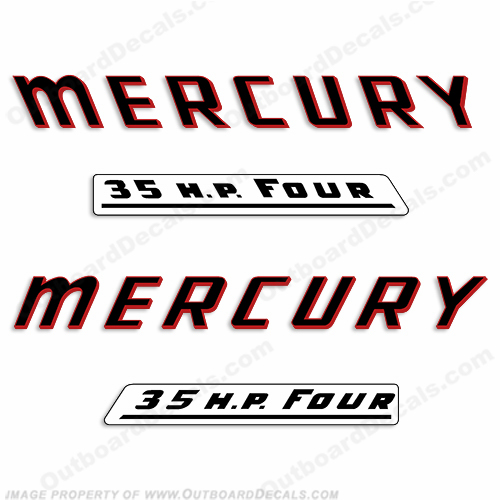 Mercury 1961 35HP Outboard Engine Decals