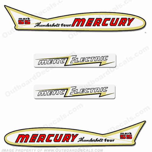 Mercury 1955 40HP Mark 55 Electric Decals