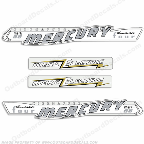 Mercury 1957 40HP Mark 55 Electric Decals