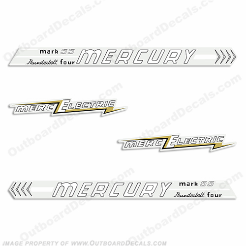 Mercury 1956 55HP Electric Outboard Decals