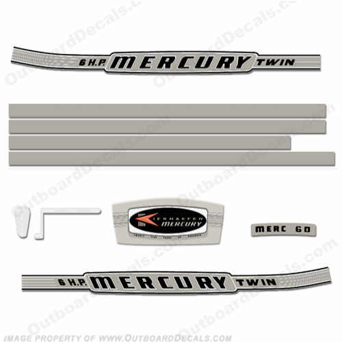 Mercury 1964 6HP Outboard Engine Decals