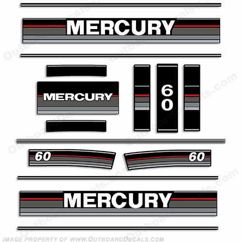 Mercury 1989-1990 60HP Outboard Decals