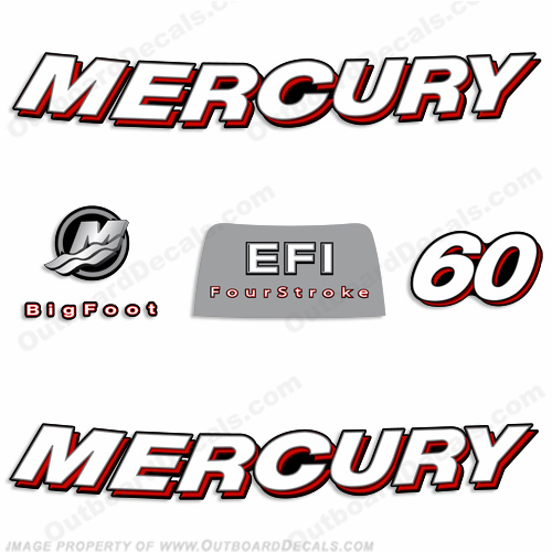 Mercury 60hp 4-Stroke EFI Decal Kit - 2006