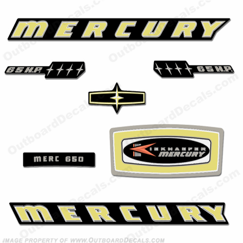 Mercury 1965 65HP Outboard Decals