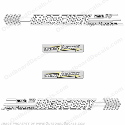 Mercury 1958 70HP Mark 78 Electric Decals