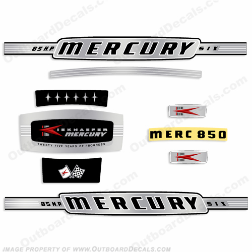 Mercury 1964 85HP Outboard Engine Decals
