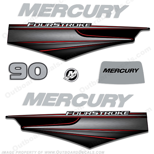 Mercury 90hp BigFoot FourStroke Decals - 2013+ big, foot, big foot, big-foot