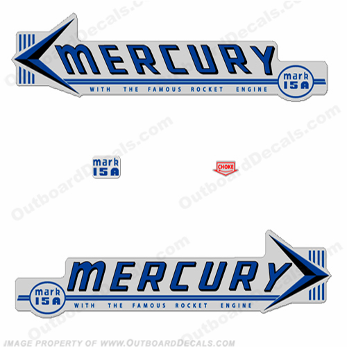 Mercury 1959 Mark 15A MK6A Blue Decals