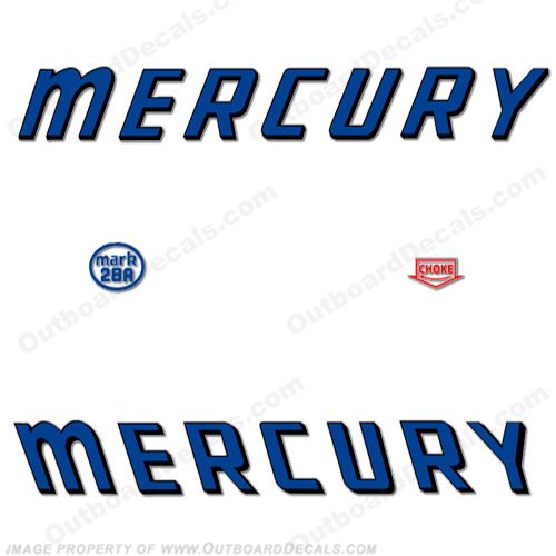 Mercury 1959 Mark 28A Blue Decals