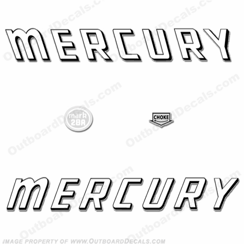 Mercury 1959 Mark 28A White Decals