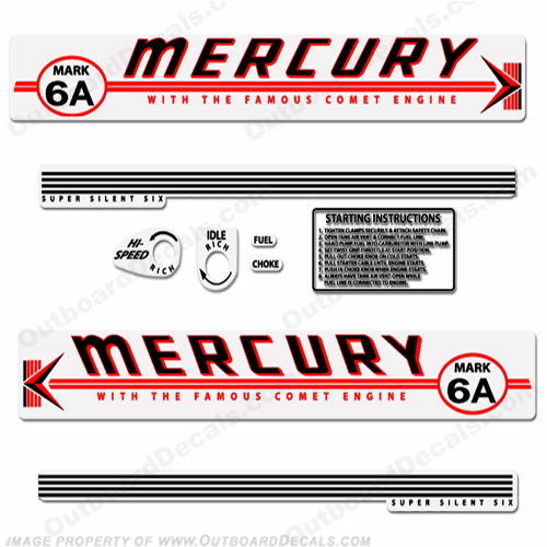 Mercury 1959 Mark 6A Red Decals