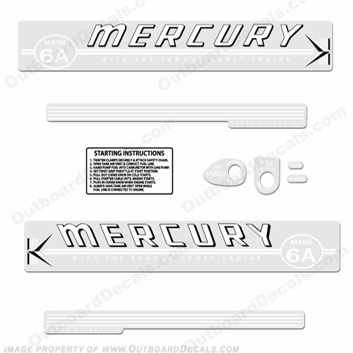 Mercury 1959 Mark 6A White Decals
