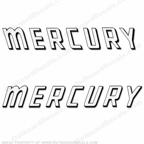Mercury 1959 Mark 75A White Decals