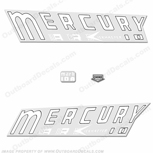 Mercury 1959 Kiekhaefer Mark 10A Decals