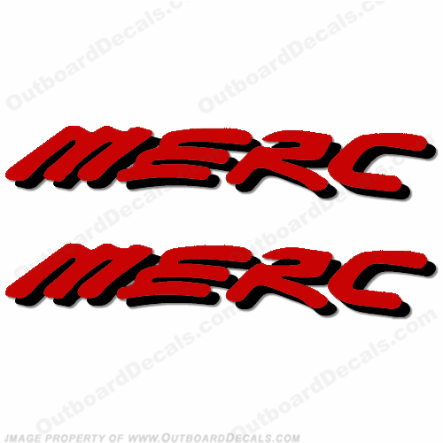 Mercury 225 Four 4 Stroke Decal Kit Outboard Engine Graphic Motor Merc RED