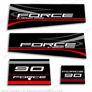 Mercury Marine Force 90hp Decal Kit
