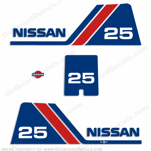 Nissan 25hp Decal Kit - 1984 - 1995