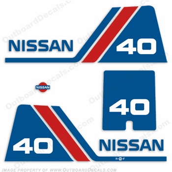 Nissan 40hp Decal Kit - 1984 - 1995