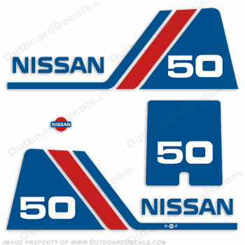 Nissan 50hp Decal Kit - 1984 - 1995