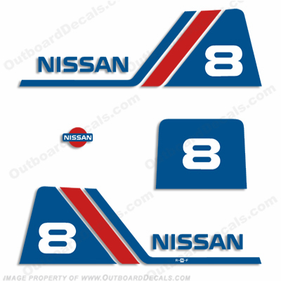 Nissan 8hp Decal Kit - 1988 - 1995