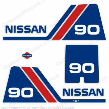 Nissan 90hp Decal Kit - 1984 - 1995